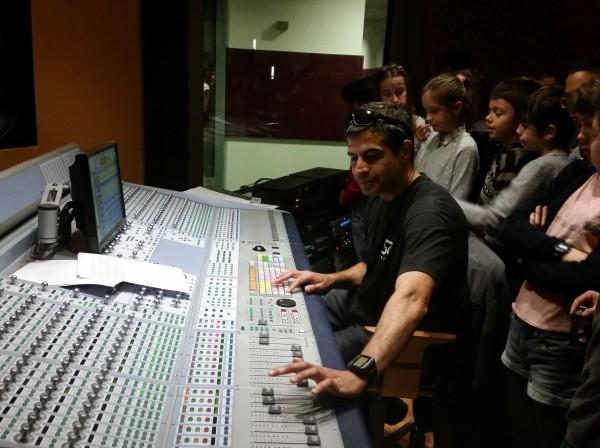 Entrem a un estudi de gravació