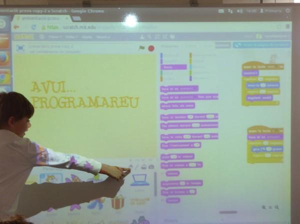 Una sessió de Scratch amb les nostres famílies