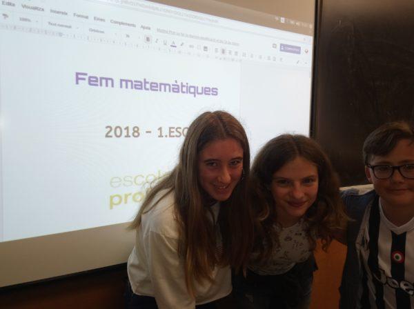 """Participació de 1r d'ESO al """"Fem Matemàtiques"""""""