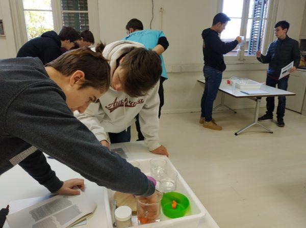 El grup de 4t d'ESO fem un taller sobre la física i la química de l'aigua