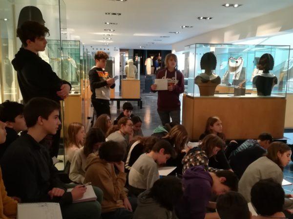 El grup de 1r d'ESO anem al Museu Egipci